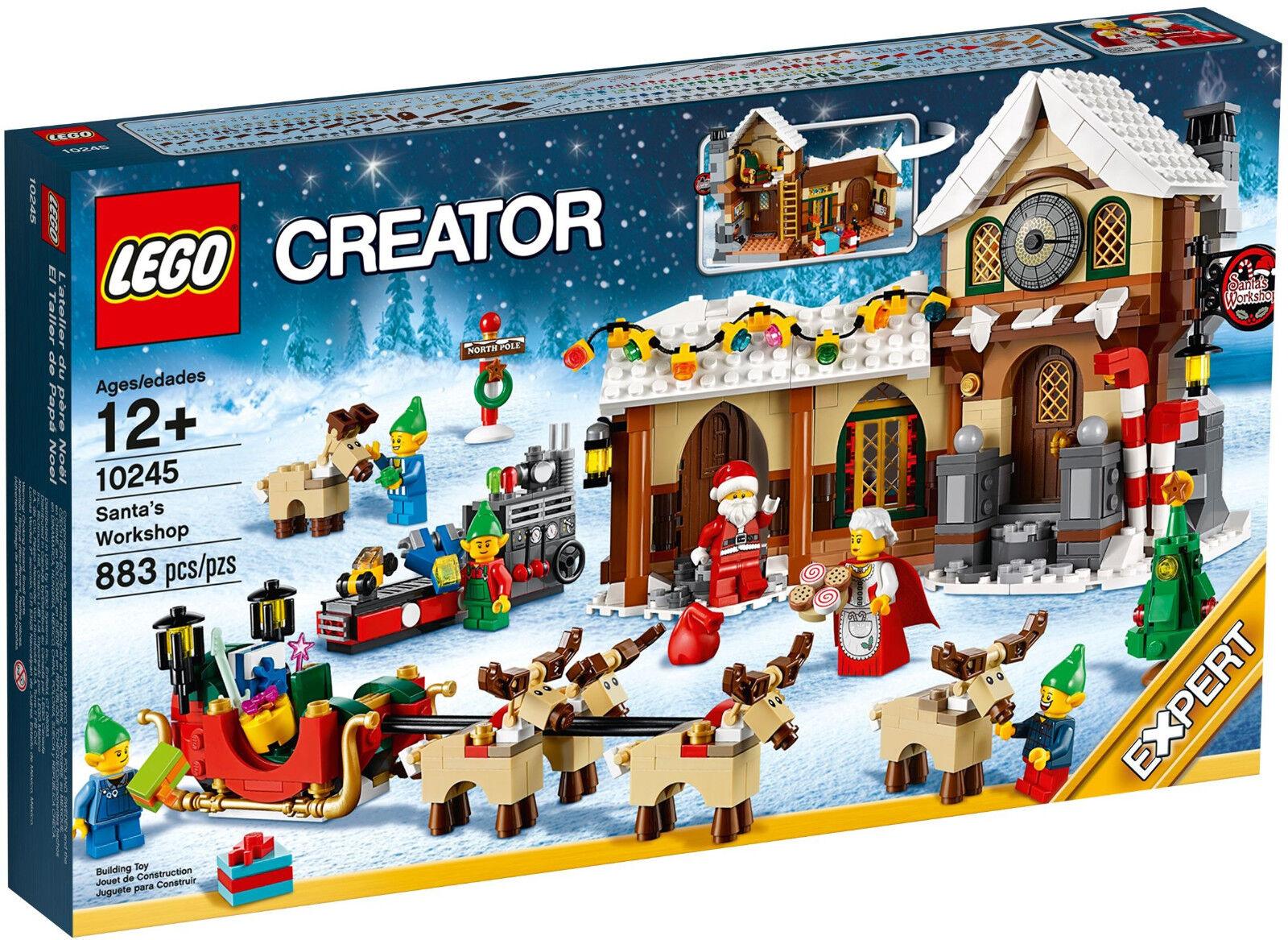 RETIRED 2014 LEGO CREATOR SEASONAL CHRISTMAS SANTA'S WORKSHOP 10245, NEW&SEALED