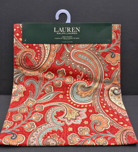 Ralph Lauren Pirouette Paisley Red 72 Quot L 100 Cotton Table