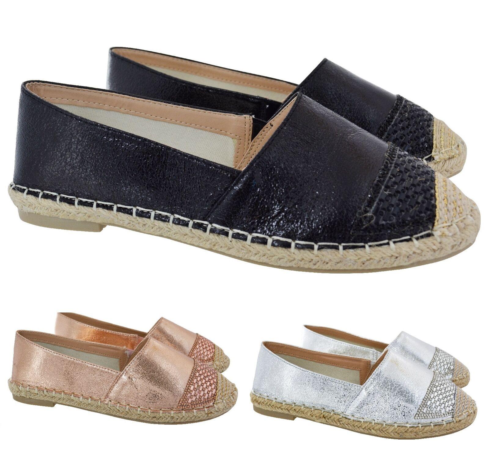 Mujer COMFY FLAT PUMPS BEACH HOLIDAY HOLIDAY BEACH ESPADRILLES LADIES SUMMER SANDALS Zapatos SZ dd690e