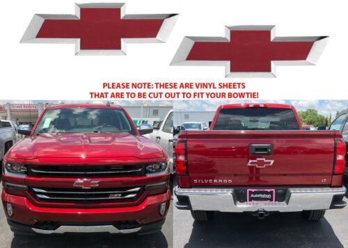 Cajun Red Tintcoat Vinyl Bowtie Decals For 2014-2018 Chevrolet Silverado New USA