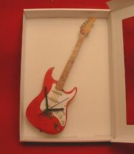 Electric Guitar Wall Clock Wooden Music Gift Stratocaster Design Rock Musician