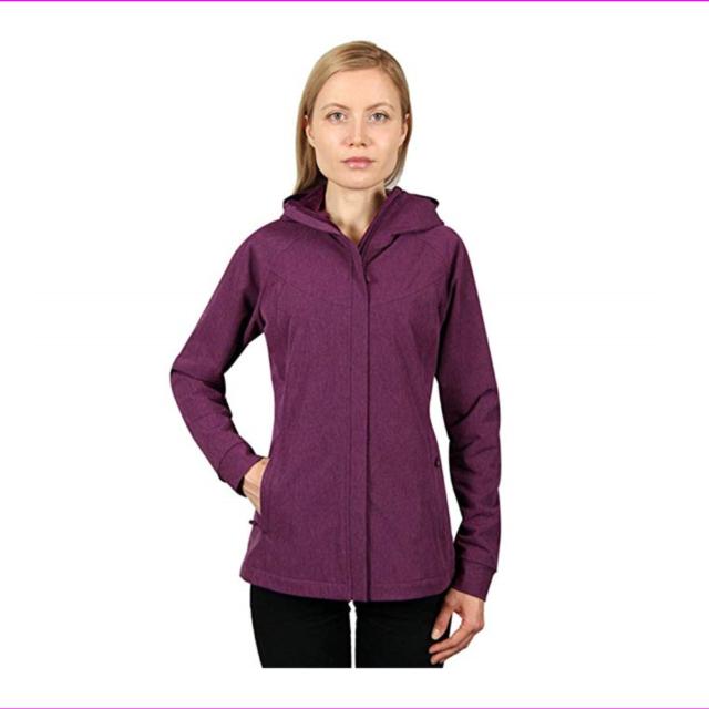Kirkland Signature Ladies Softshell Hooded Fleece Lined Jacket Colors/Size NWT