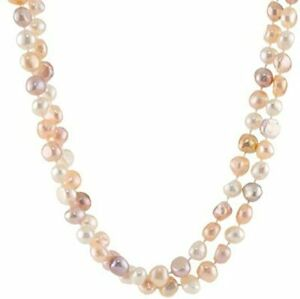 8-9mm Natural Multicoloured Freshwater Pearl Necklace for Women