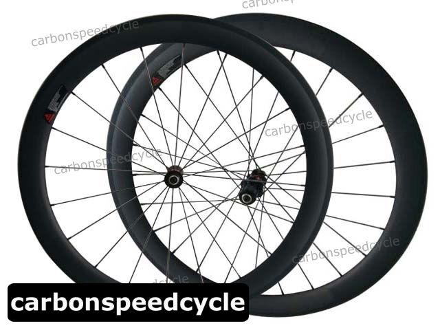Carbon Fiber Cycling Wheel 25mm Width 50mm Clincher Sapim Spokes Racing Wheelset