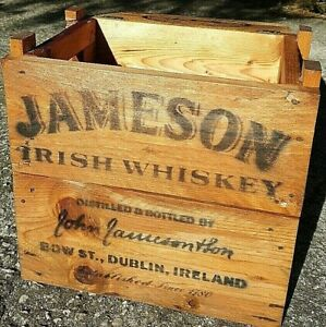 Cassa-Legno-Vintage-Wood-Whiskey-Jameson-Ireland-Est-1780-Dublino-Rare-storage