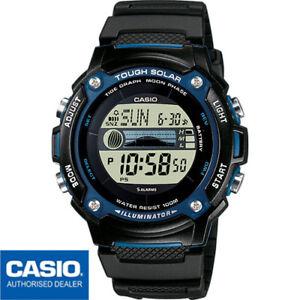 CASIO W-S210H-1AVEF⎪W-S210H-1A⎪TOUGH SOLAR⎪INDICADOR MAREAS⎪FASES LUNARES