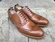 Barker Grant Wing Tip Brogue Shoes Tan Cedar Calf UK 10.5 B.N.I.B