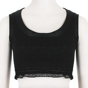 Alaia-Black-Raffia-Cropped-Bora-Bora-Top-FR36-UK8