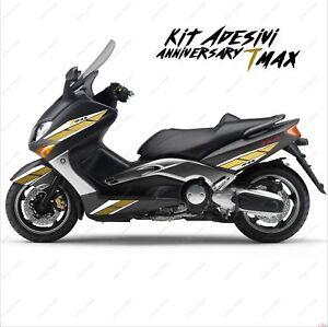 Adesivi Anniversary Grafica Compatibile Yamaha Tmax T-max 01 07 Bianco Oro