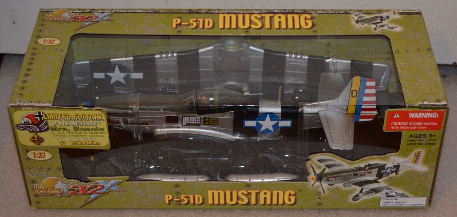Ultimate Soldier 1 32 P-51D Mustang, Mme Bonnie, No. 21000 13316