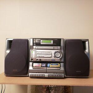 Image Is Loading AIWA CA DW635U BOOKSHELF AM FM CD CASSETTE