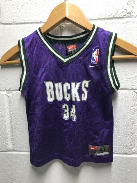 Vintage Ray Allen Milwaukee Bucks Nike Jersey Toddler Size 4T  4bd4458ee