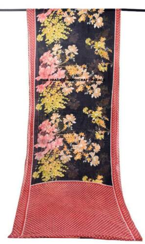 Lot Of 5 Vintage Indian Saree Pure Cotton Fabric Craft Used Art Multicolor Sari