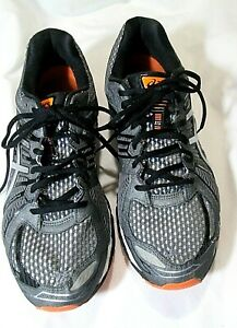 Mens-Asics-Gel-Nimbus-15-Mens-Size-11-Gray-Orange-Trail-Running-Shoes-Sneakers