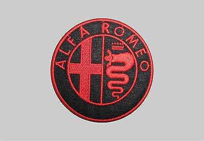 PATCH TOPPA ALFA ROMEO EMBROIDERY RICAMATO TERMOADESIVO cm 7