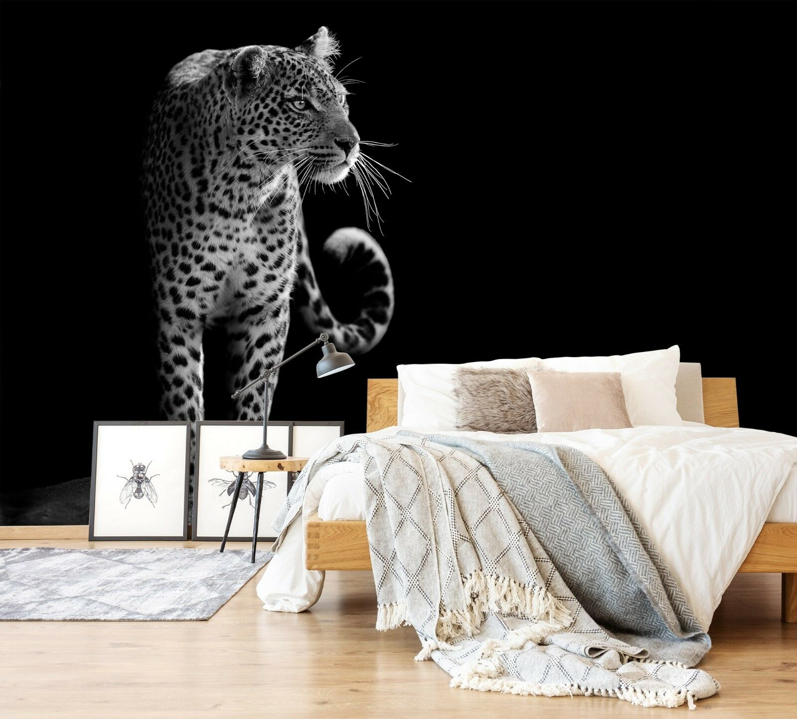 3D Animal Leopard 995 Wallpaper Mural Paper Wall Print Indoor Murals CA Summer