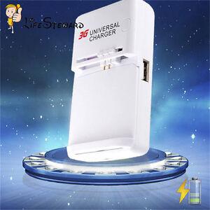 universal ladeger t charger mit usb anschlus f r handy pda kamera lithium akku ebay. Black Bedroom Furniture Sets. Home Design Ideas