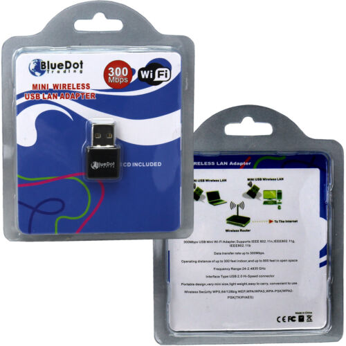 Wireless USB Wifi 300Mbps Mini Wlan Adapter 802.11 b//g//n 300M Wifi Dongle USA