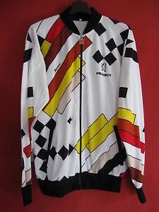 Veste-cycliste-Peugeot-SMS-Santini-Ancien-retro-90-039-S-Vintage-Jersey-5-XL