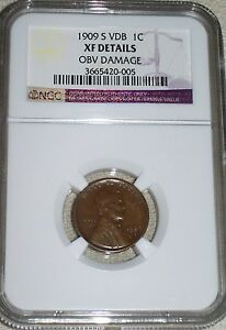 1909-S-VDB-Lincoln-Cent-NGC-Graded-XF-Details-KEY-DATE-LOW-MINTAGE