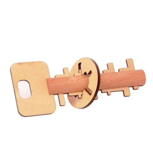 Puzzle Bamboo Unlock Key Education Tool Toys Intelligence Development Toy