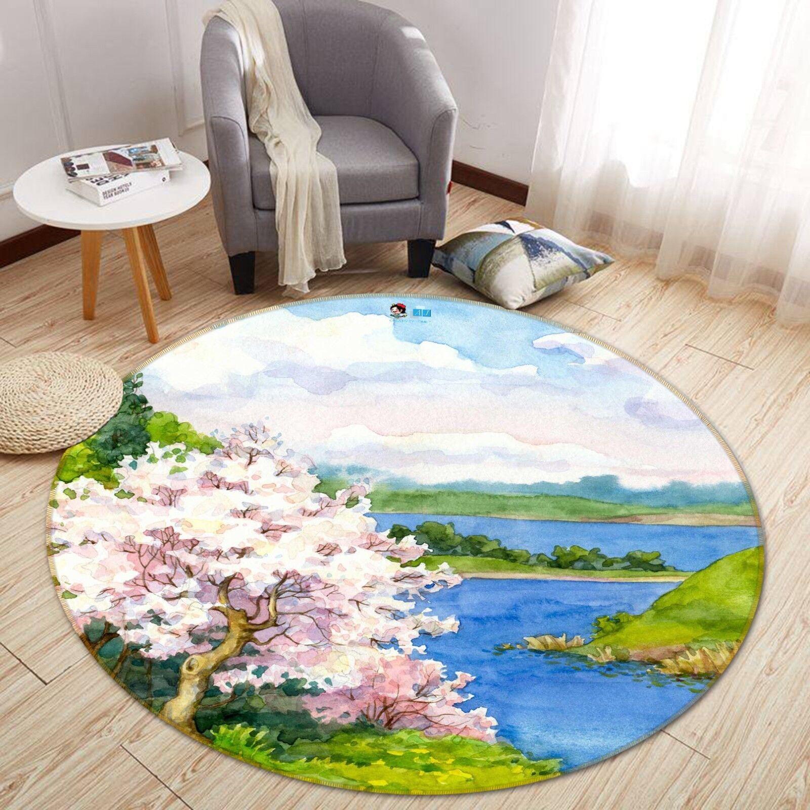 Tapis de tapis de tapis de tapis de tapis de tapis de la fleur 3D 3D qualité ronde élégante qualité tapis photo US