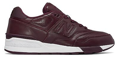 New Balance 597 Leather Mens Shoes Red
