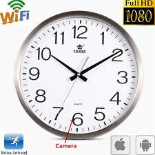 WIFI HD 1080P Spy Hidden Wall Clock Recorder Camera DVR Motion Detection Cam