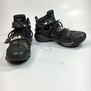 online store 8ecf4 53c23 Nike ID Lebron James 2 Men's 8 M Gray Black Double Strap Mid ...