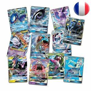 Lots-de-40-300-Cartes-Pokemon-Version-Francaises-Brillantes-FR-GX-MEGA-EX-Rares