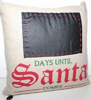 Pier 1 Imports Christmas Countdown Chalkboard Throw Pillow - Fun