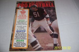 1966-Pro-Football-CHICAGO-BEARS-Dick-BUTKUS-NFL-AFL-CFL-Preview-VINCE-LOMBARDI