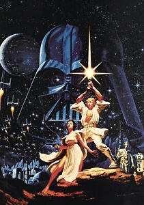 STAR-WARS-Movie-PHOTO-Print-POSTER-Vintage-Textless-Film-Art-A-New-Hope-007