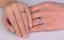 Anello-Anelli-Coppia-Fedi-Fede-Fedine-Fidanzamento-Acciaio-Inox-Love-Paio-Regalo miniatura 2