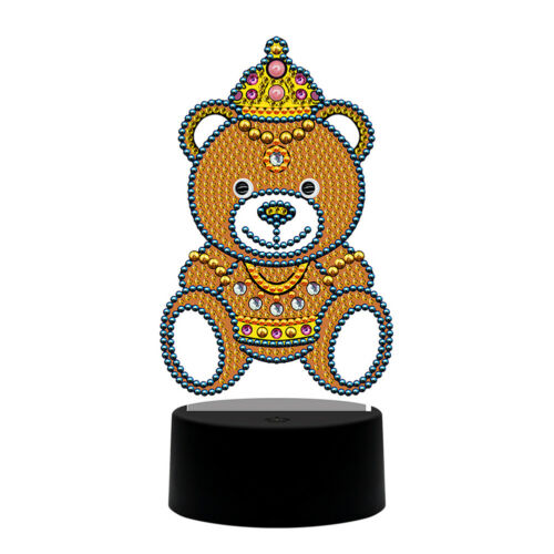 DIY Christmas Tree Diamond Painting LED Light Embroidery Home Night Lamp Mosaic