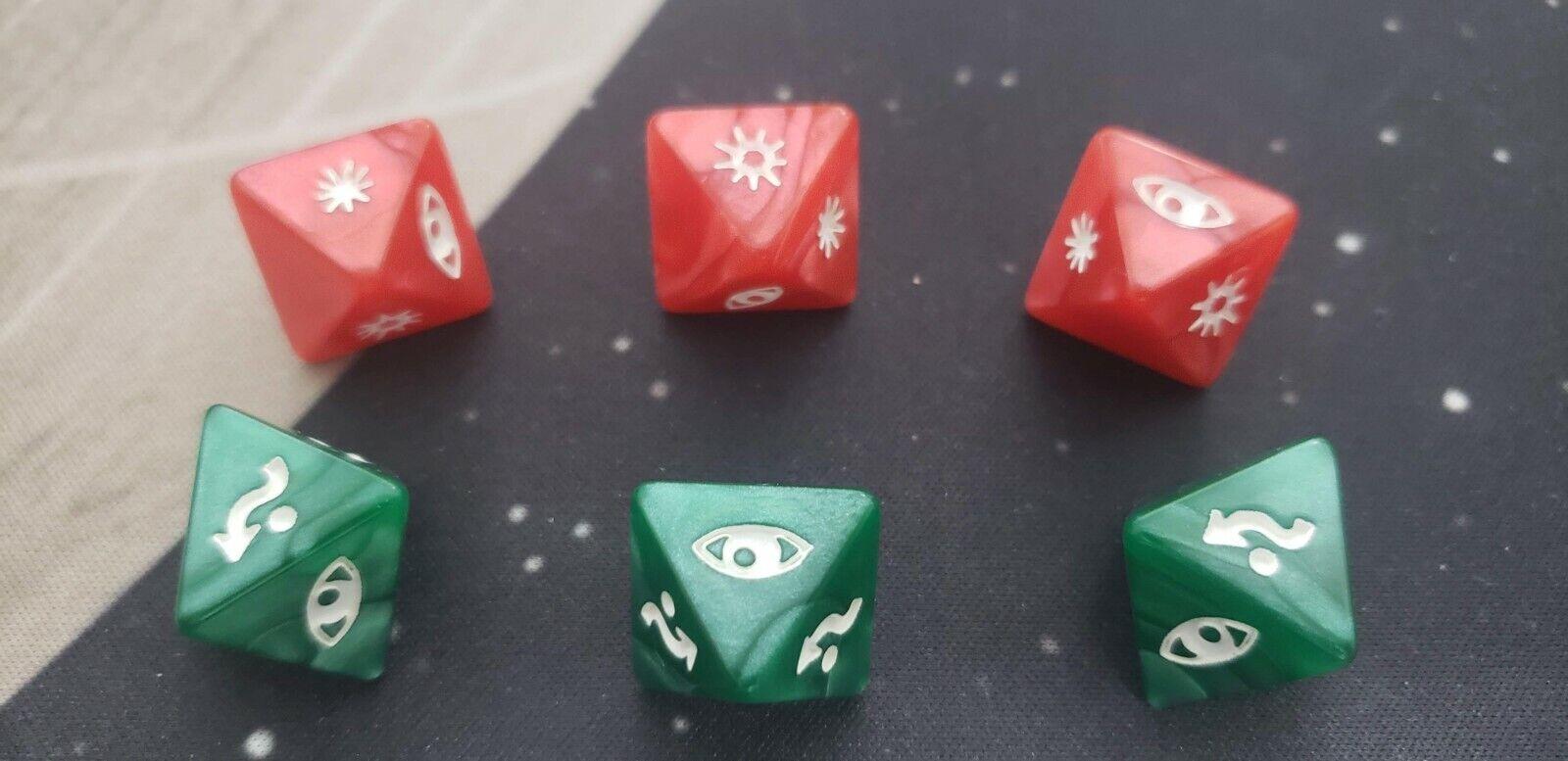 X-Wing Miniaturas campeonato regional de Estrella Wars dice Conjunto de 6  3x Rojo 3x verde