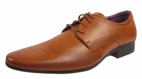MENS FAUX LEATHER ITALIAN STYLE CASUAL FORMAL BROGUE OXFORD OFFICE WEDDING SHOES