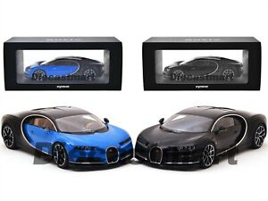 BUGATTI-CHIRON-BLACK-1-18-DIECAST-MODEL-CAR-BY-KYOSHO-C09548-BLUE-DARK-BLUE