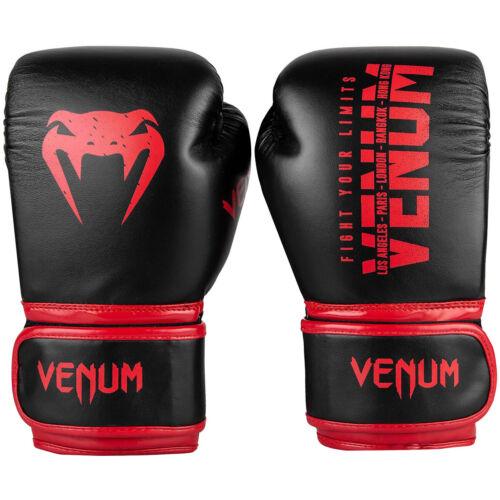 Venum Signature Kids Training Boxing Gloves Black//Red