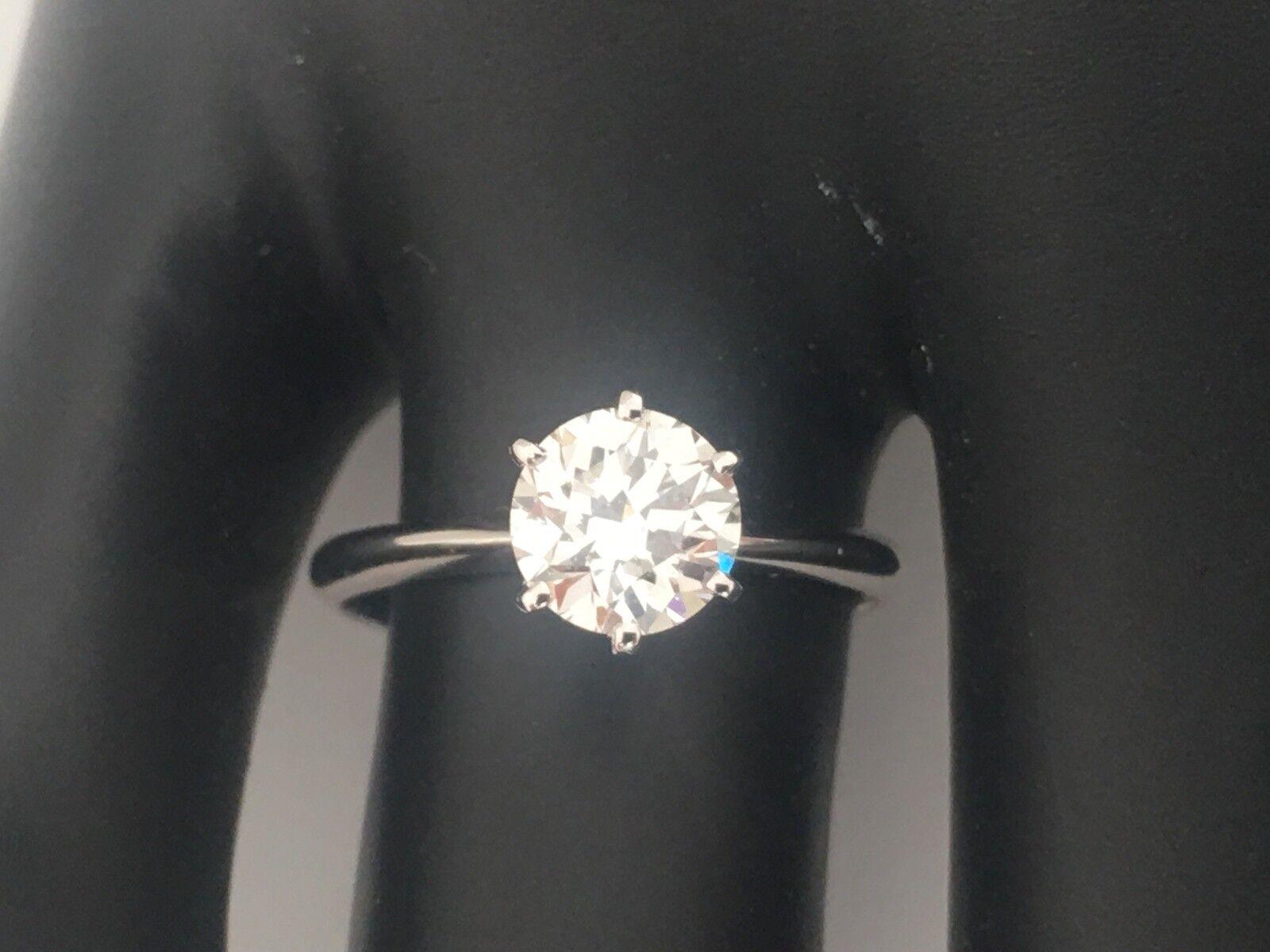 1.00 CARAT ROUND CUT E VS2 DIAMOND SOLITAIRE ENGAGEMENT RING 14K WHITE gold