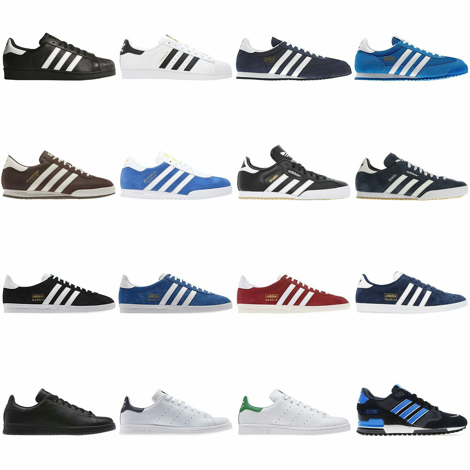 Adidas Tennis Originales Samba Superstar Gazelle Og Dragon Beckenbauer