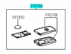 TOYOTA-89904-12361-Electrical-Key-Transmitter-Sub-Assy-Genuine-AURIS-Prius-VITZ