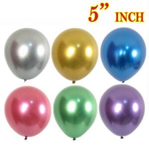 Chrome-Palloncini-Lattice-Metallico-Pearl-5-034-numerazione-di-riferimento-festa-di-compleanno-UK