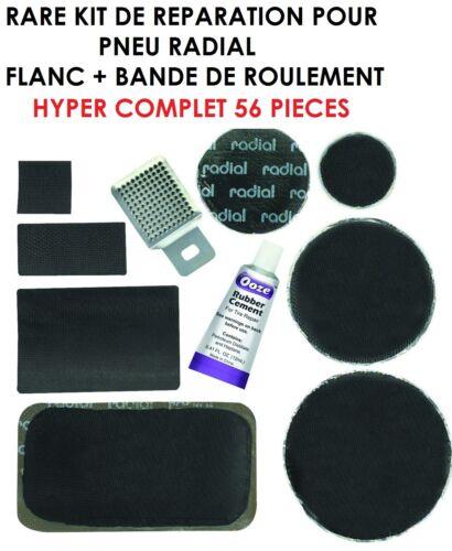 4X4 HDJ JEEP BANDE DE ROULEMENT 56 PIECES KIT REPARATION PNEUS RADIAL FLANC