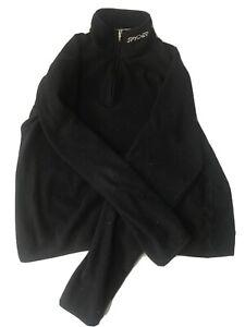 Spyder Women's Core Black Sweater Fleece lined Jacket Size S/P Zip Up