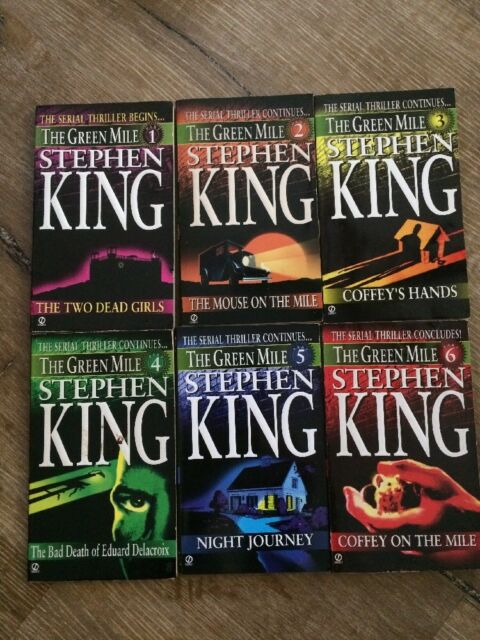 The Green Mile: Stephen King: 6 Part Paperback Book: 1996:  flawless !!