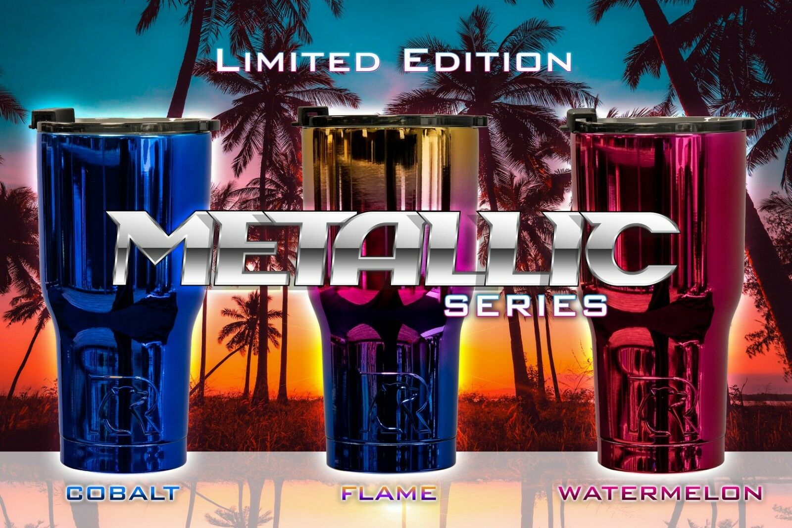 RTIC 30oz and 20oz Tumblers 2018 Limited Edition Metallic Series w  SP Lid