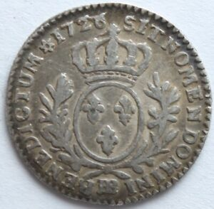 LOUIS-XV-1-10-ECU-AUX-BRANCHES-D-039-OLIVIER-1726-BB