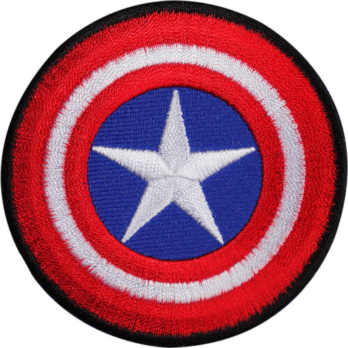 Captain America Shield Embroidered Iron Sew On Patch T Shirt Bag Comic Badge