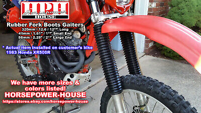 Suzuki RM250 76-85 Black Fork Gaiters for